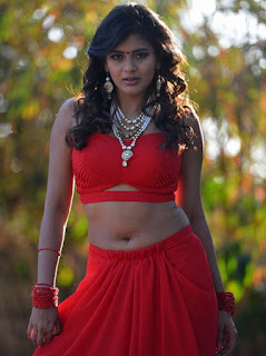 Pretty Girl Heeba Patel% Show Pos In Red Dress (4)